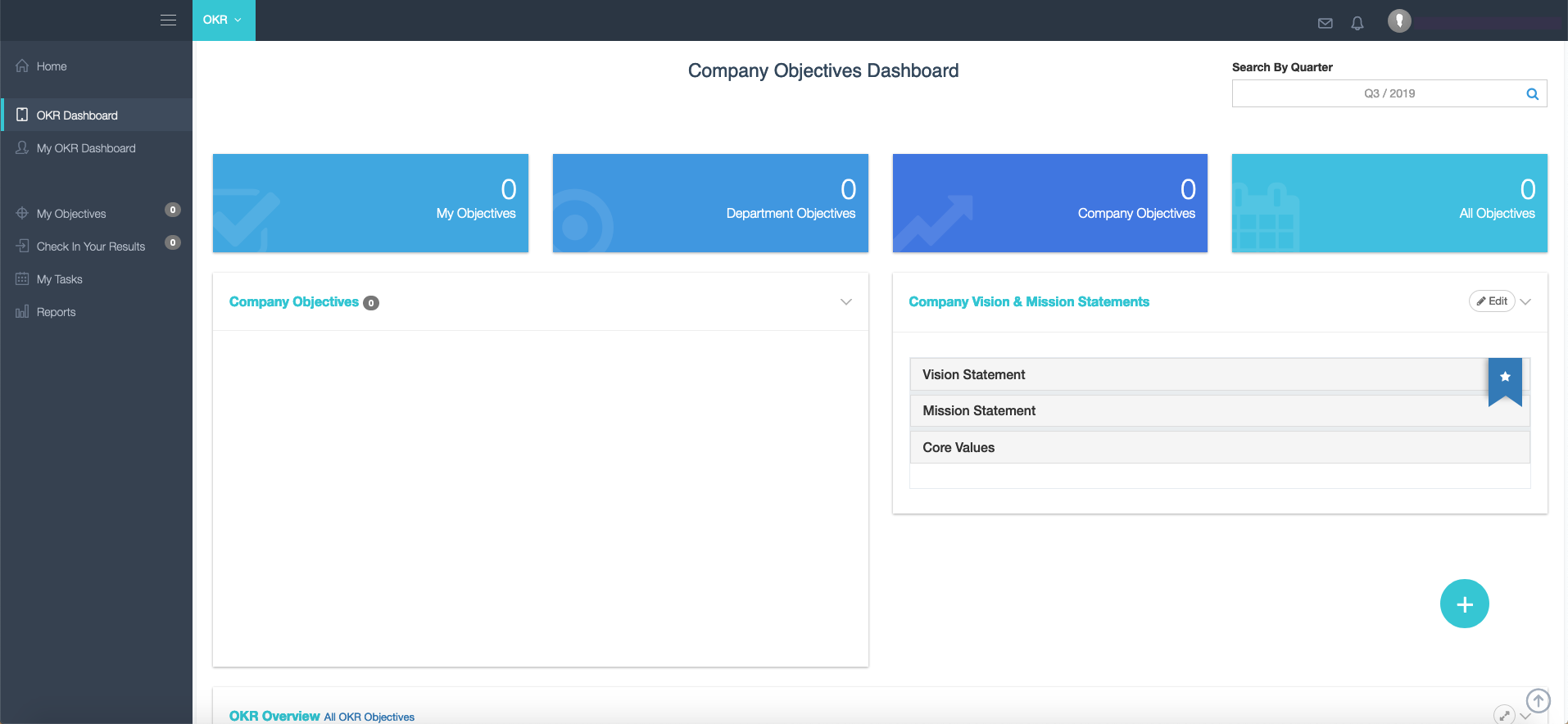 Welcome to your Corvisio OKR Dashboard